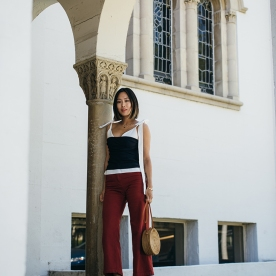aimee_song_of_style_jacquemus_tie_top_rachel_comey_pants_chanel_heels