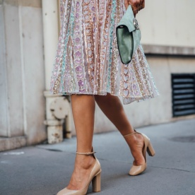 Aimee_song_of_style_paris_fashion_week_valentino_sequence_dress_nude_heels_mint_clutch